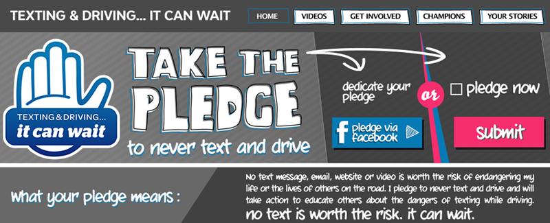 AT&T It Can Wait Pledge Site