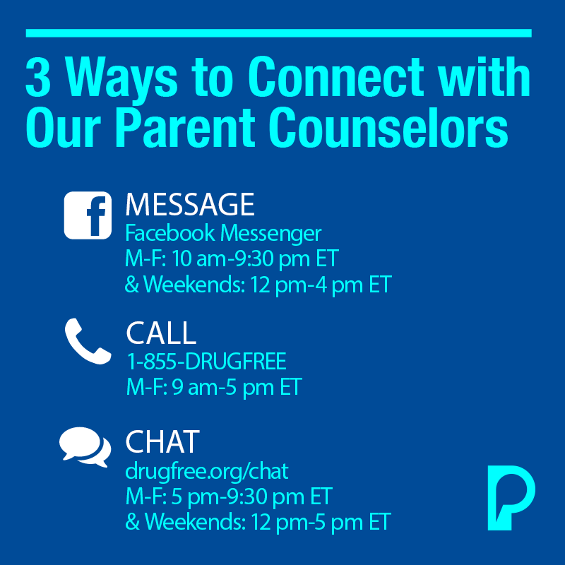 Contact information for Parent Counselors.