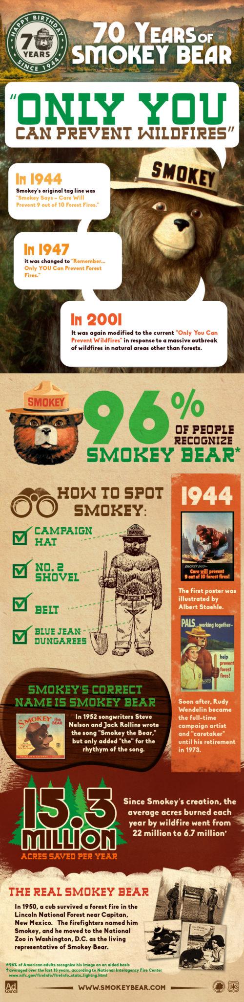 Smokey Bear infographic